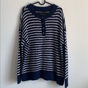 Henley-style AE Sweater